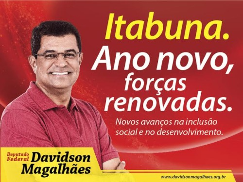 MENSAGEM DO DEPUTADO FEDERAL  DAVIDSON MAGALHÃES