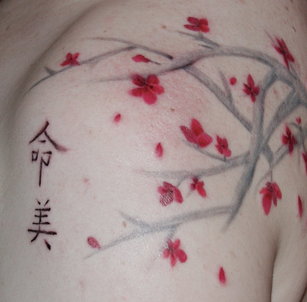 Japanese cherry blossom tattoos the meanings best tattoo for Japanese cherry blossom tattoos
