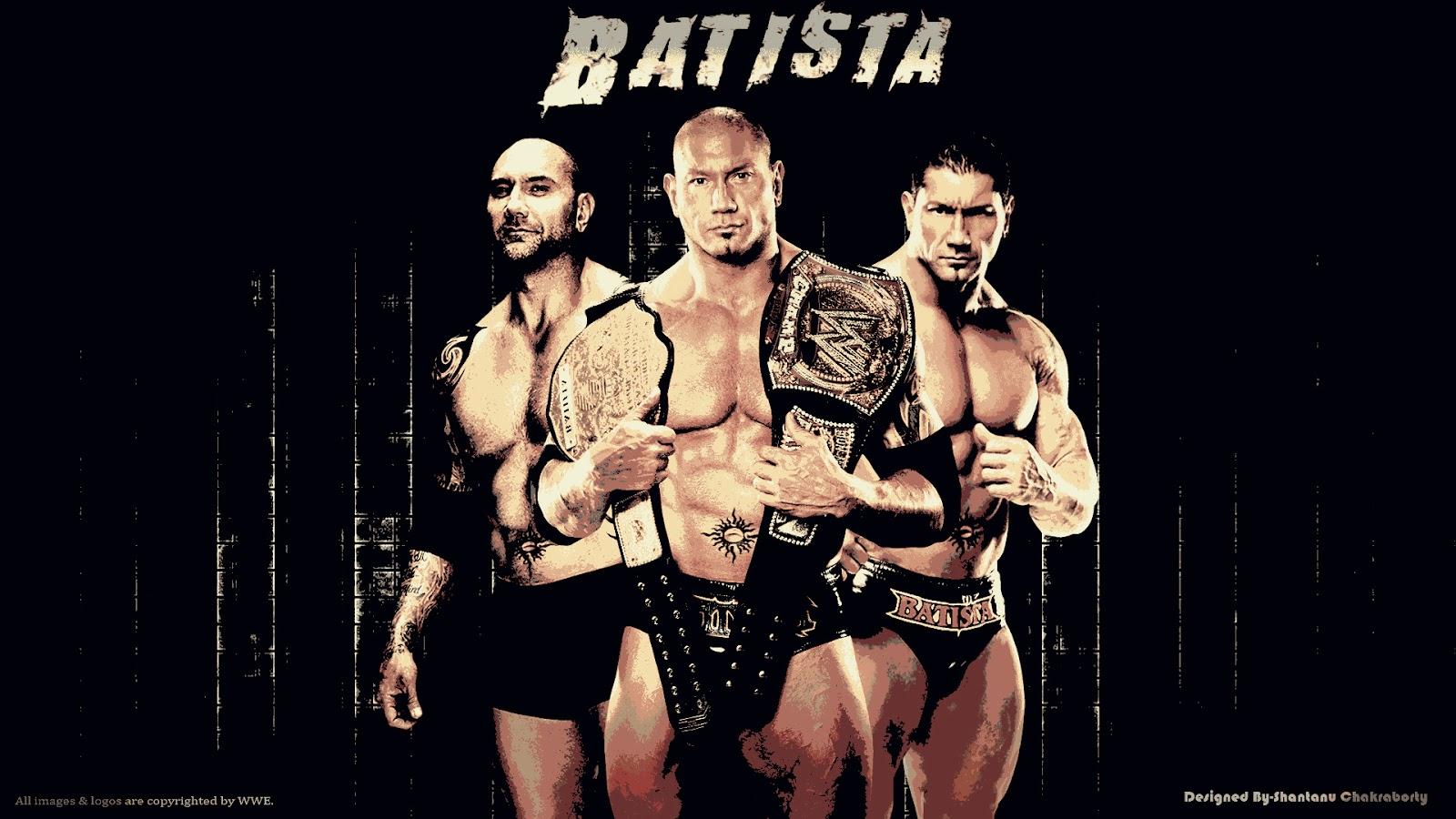 "Download — ""The Animal"" Batista HD Wallpaper (Designed by Shantanu Chakraborty)"
