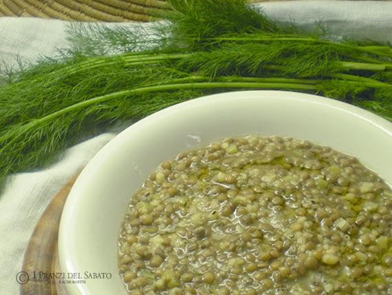 minestra di lenticchie e finocchietto