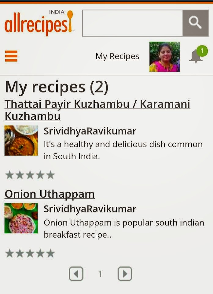 Check out my Recipes in Allrecipes India
