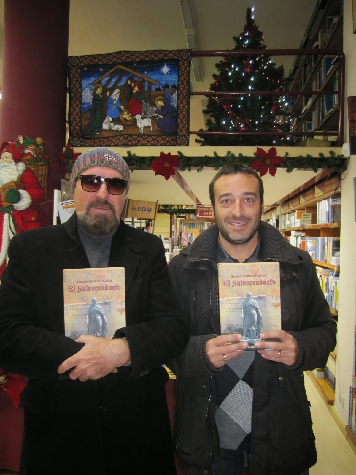Con Mario. Librería Cilsa, Alicante.