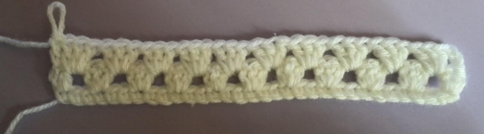 グラニーストライプの2段目が編み終わった