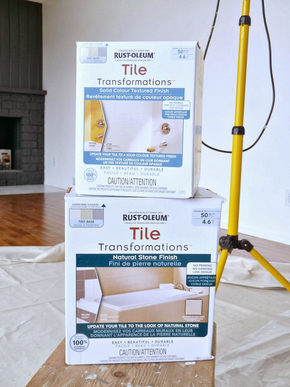 How to paint over dated ceramic tile dans le lakehouse rust oleum tile transformations kit product review dailygadgetfo Image collections