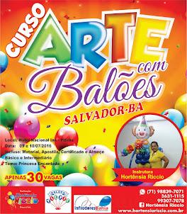Curso Básico de Arte com Balões
