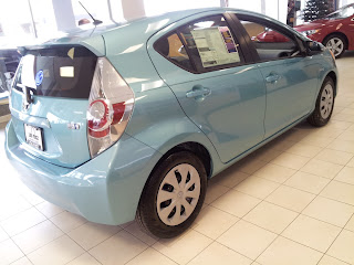 Summer Rain Metallic 2012 Prius C, at Lou Fusz Toyota.