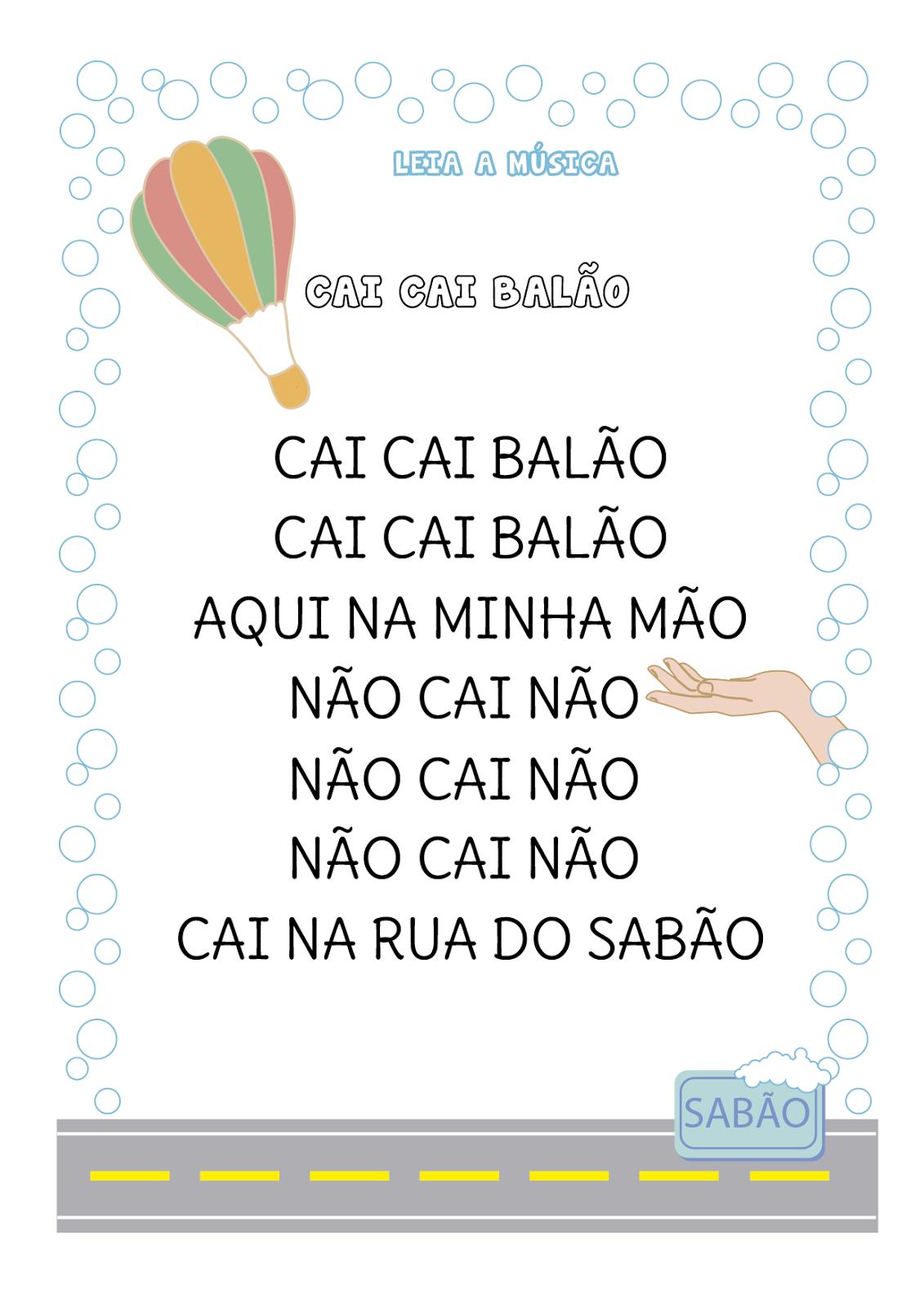 Favoritos Notebook da Profª: Atividade com música - Cai cai balão HL97