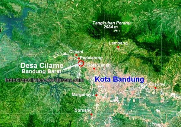 Peta lokasi desa Cilame Ngamprah Bandung Barat.