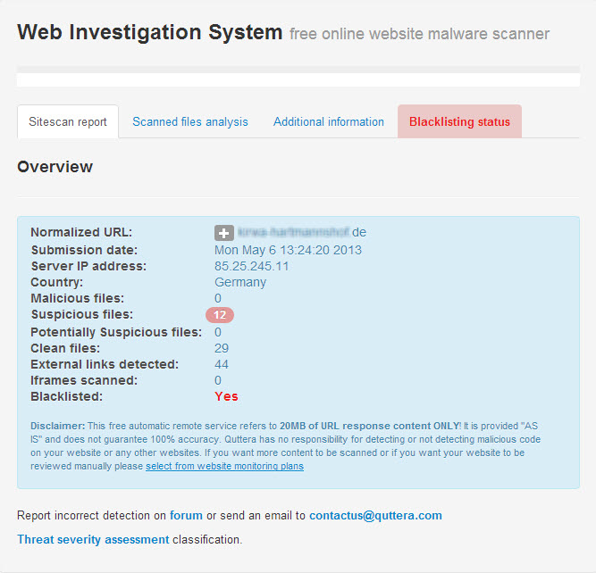 Online Website Malware Scanner