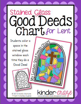 FREE Stained Glass Good Deeds Chart for Lent