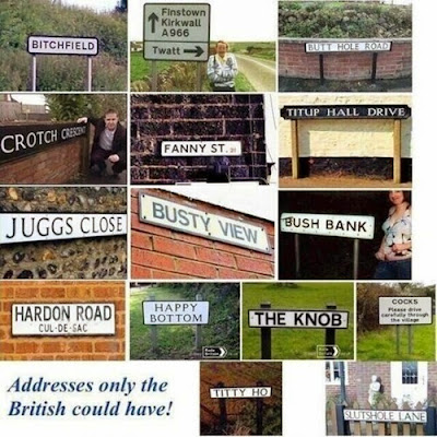 slutshole lane hardon road fanny juggs crotch busty view titup hall drive funny rude road signs