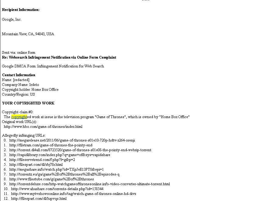 read the DMCA complaint
