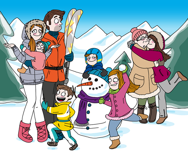 Výsledek obrázku pro skiing animated