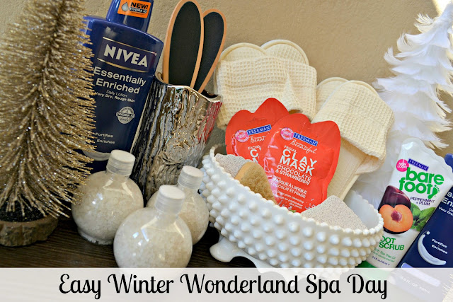 Winter wonderland spa with NIVEA lotion from Sam's club #NIVEAMoments
