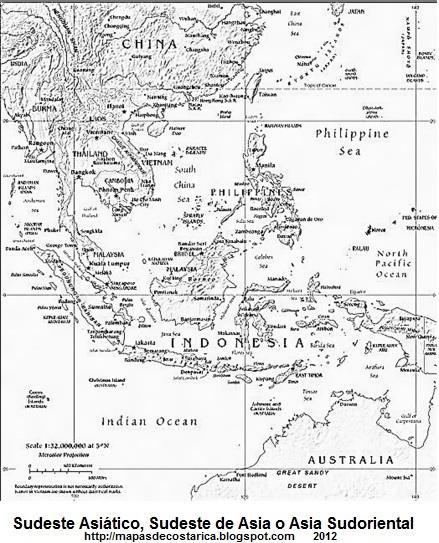 Sudeste Asiatico Mapa Mapa de Sudeste Asi Tico
