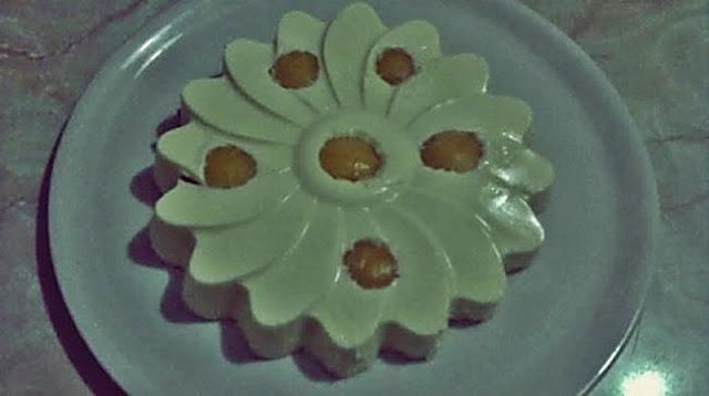 Flor de melocotón con mascarpone