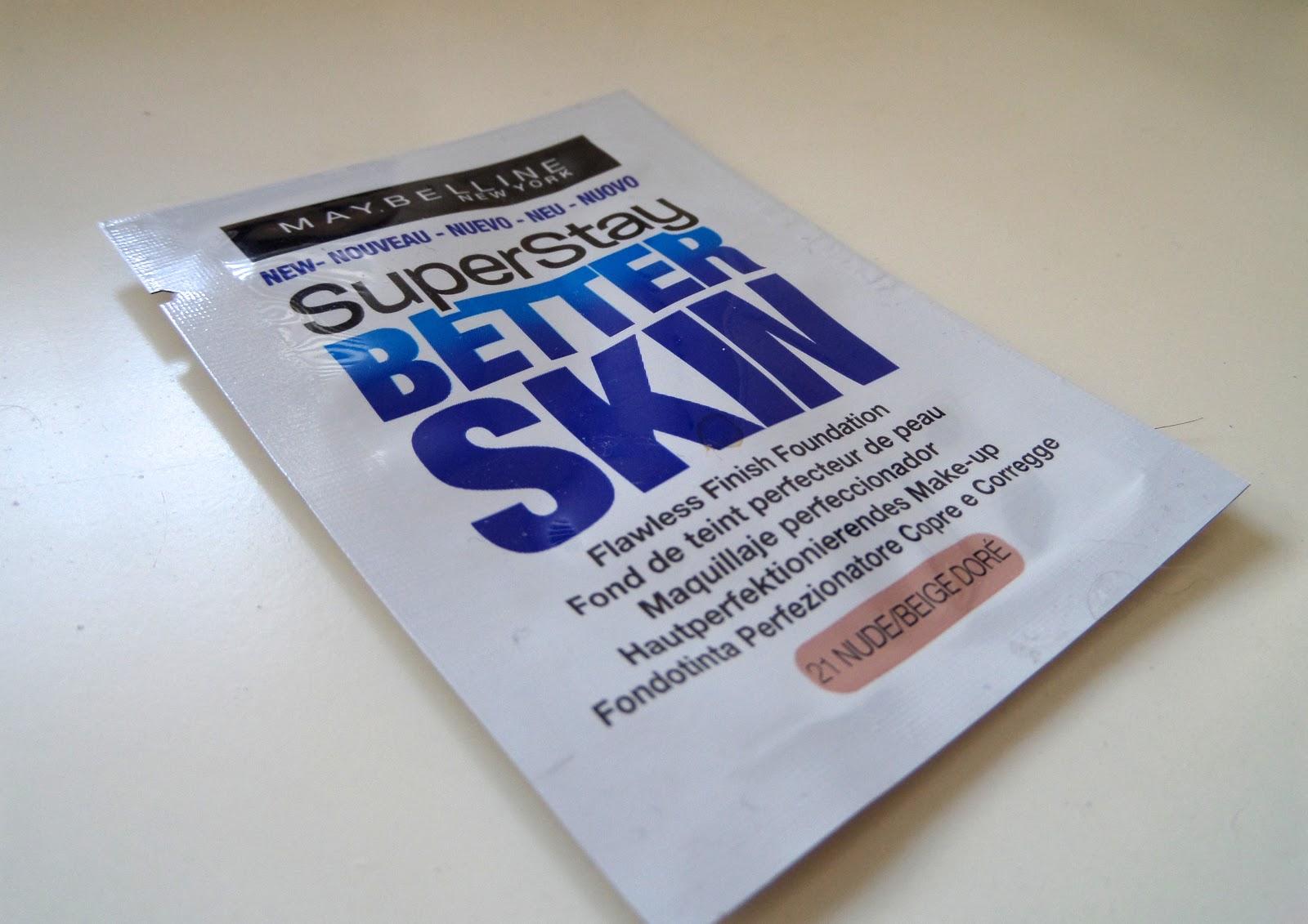 Maybelline Superstay Better Skin Foundation Sample