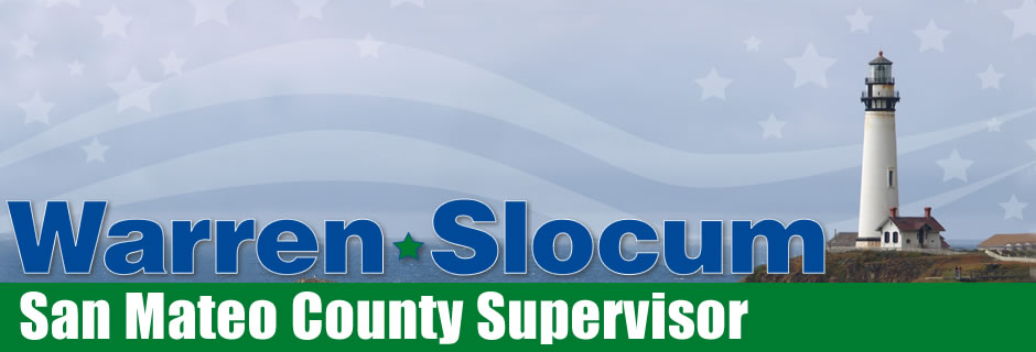 Warren Slocum, San Mateo County Supervisor, District 4