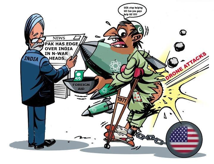 Pakistan Foreign Aid Drone Attacks Cartoon