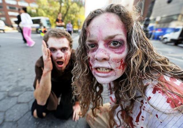 зомби очень кровожадны