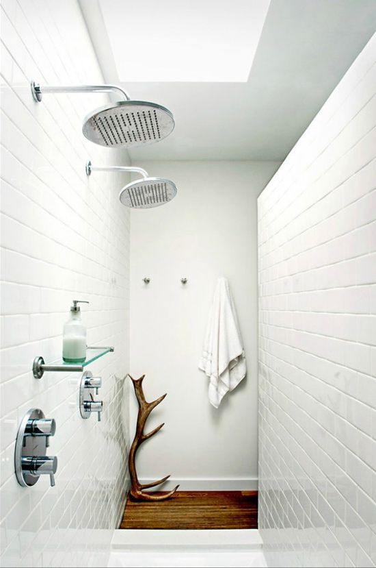 """Living in designland: inspiraciÓn: ducha """"ladrillo"""" blanco"""