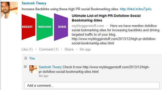 Get Dofollw Backlinks From LinkedIn