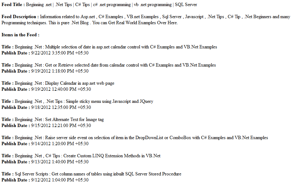 Beginning Tips C Tips Mvc C Programming