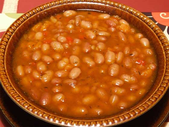Болгарский суп из фасоли Боб чорба