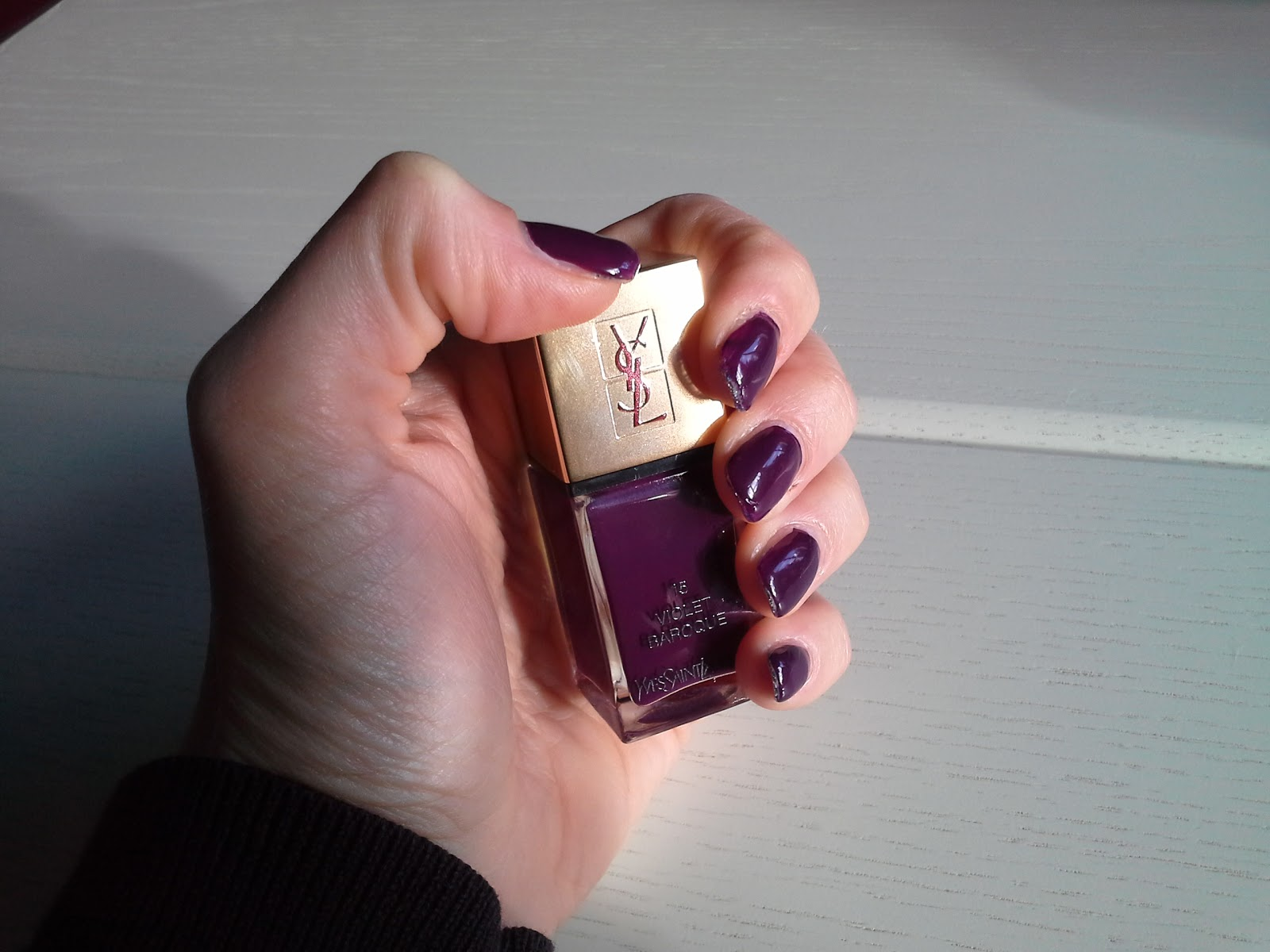 My world is pink: Review: YSL Nagellack Violet Baroque