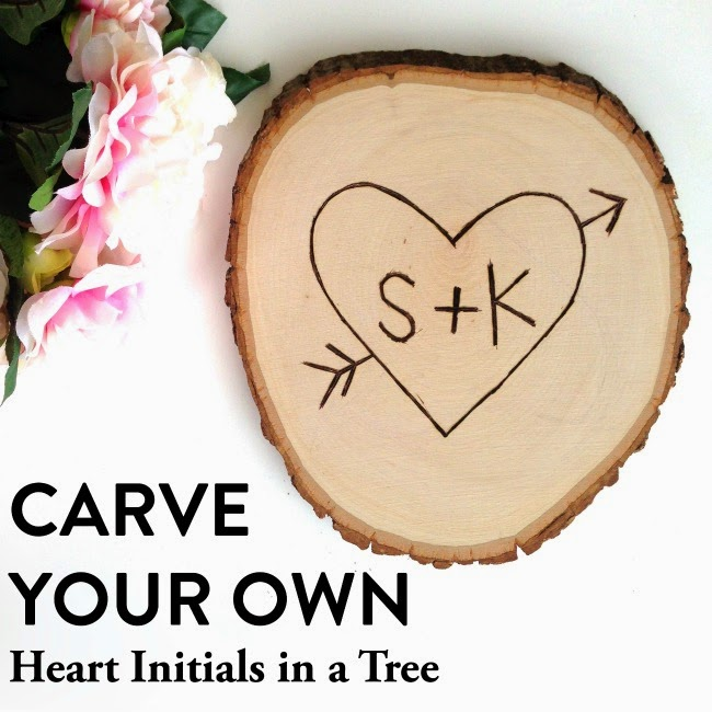 Valentine S Day Tutorial Carve Your Own Heart Initials In