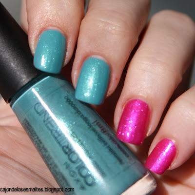 Avon Colortrend - Turquesa Peace y Rosa Love al sol energia radiante