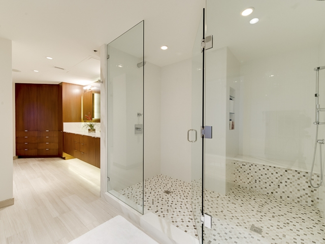 Photo of bathroom and the shower cabin