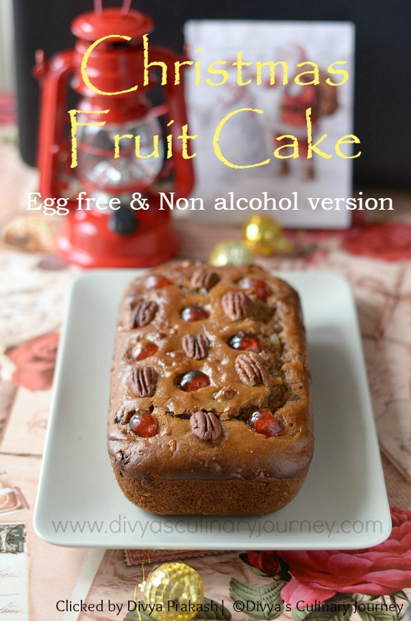 Fruit cake recipe, Egg free fruit cake recipe