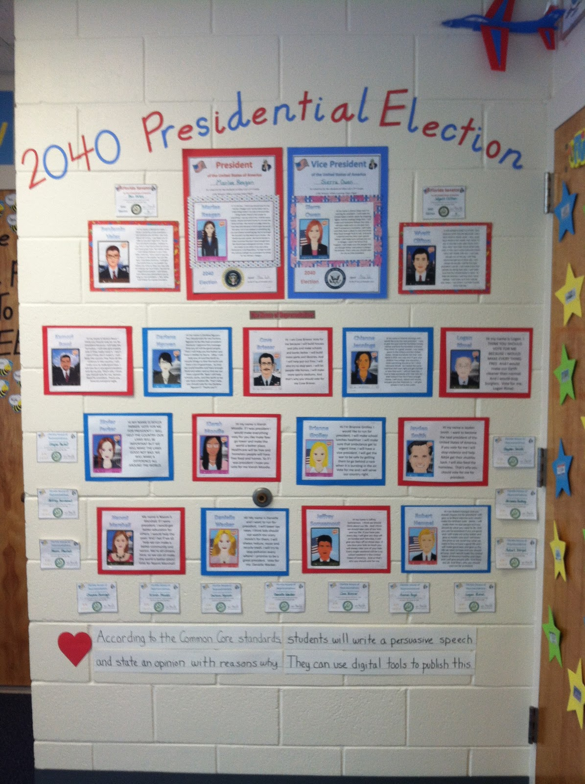 Classroom Voting Ideas ~ Second grade in lak airways presidential election