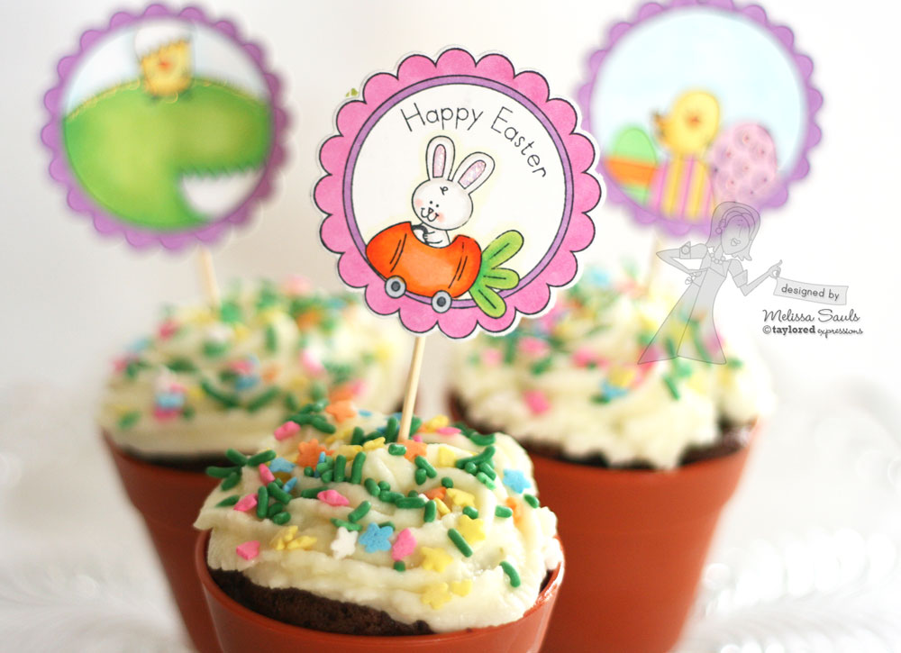 easter themed cupcake 