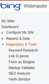 Bing keyword