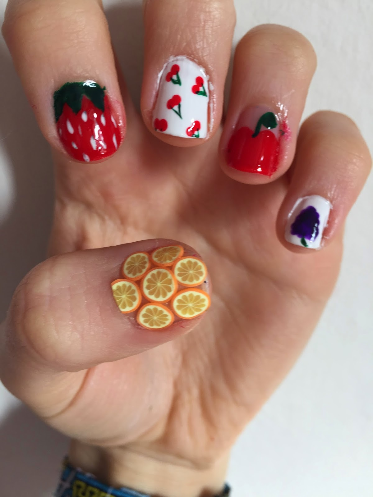 Laras nails froot nails tutorial froot by marina and the diamonds almost constantly at the moment whilst doing revision so i thought why not do a froot inspired nail art tutorial prinsesfo Gallery
