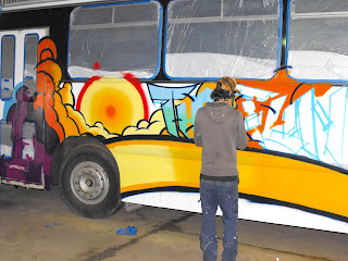 airbrush art bus dobell designs traditional signs aedan howlett Sydney New South Wales