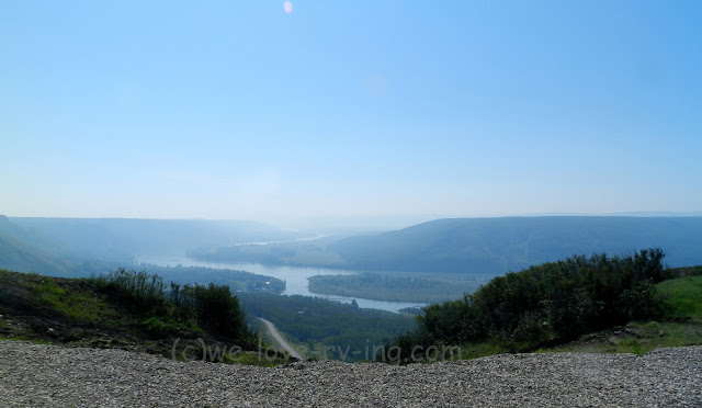 Peace River flows through the valley below the viewpoint