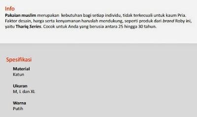 Jual Baju Muslim Roby - Thoriq Pekanbaru