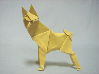 Как сделать оригами хаски