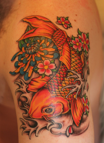 Amazing koi tattoo all about 24 for Amazing koi fish