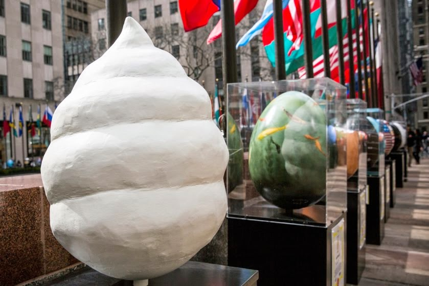 Easy to Find in an Egg Hunt.... Giant Faberges on Display in NYC for Easter