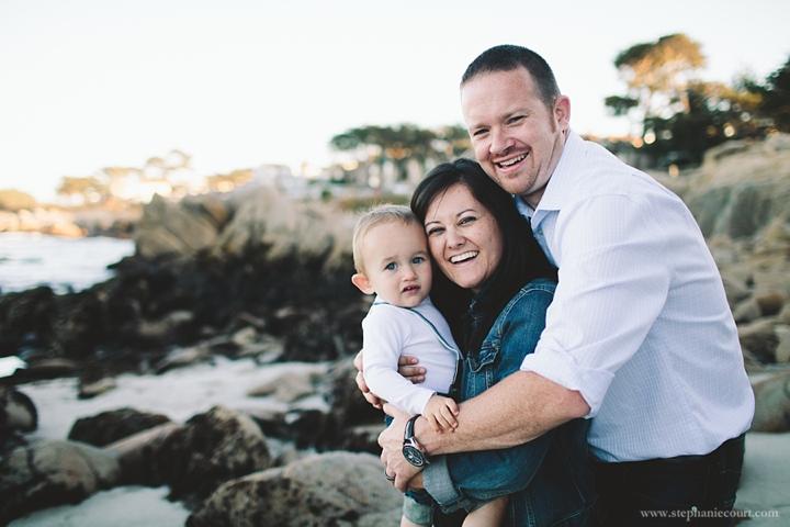 family photo session monterey beach