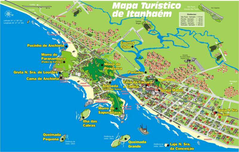 MAPA TURÍSTICO DE ITANHAÉM