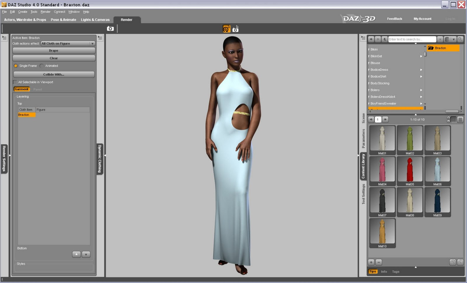 Optitex releases mac os version of dynamic clothing engine for use with daz 3d s figure art 3d design free