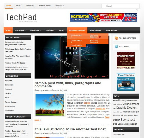 TechPad WordPress Theme