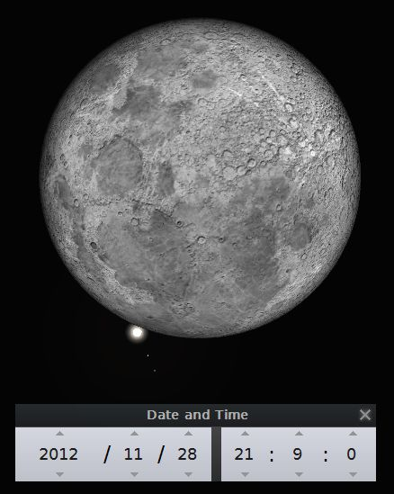 Ocultação de Júpiter pela Lua (28 de Novembro de 2012)