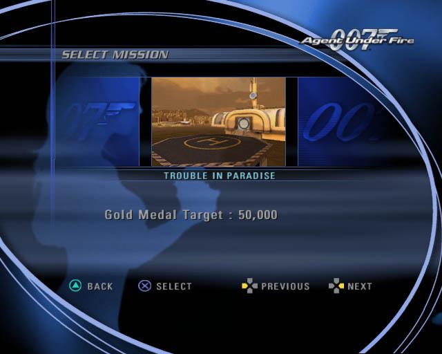 James Bond Agent Under Fire select mission