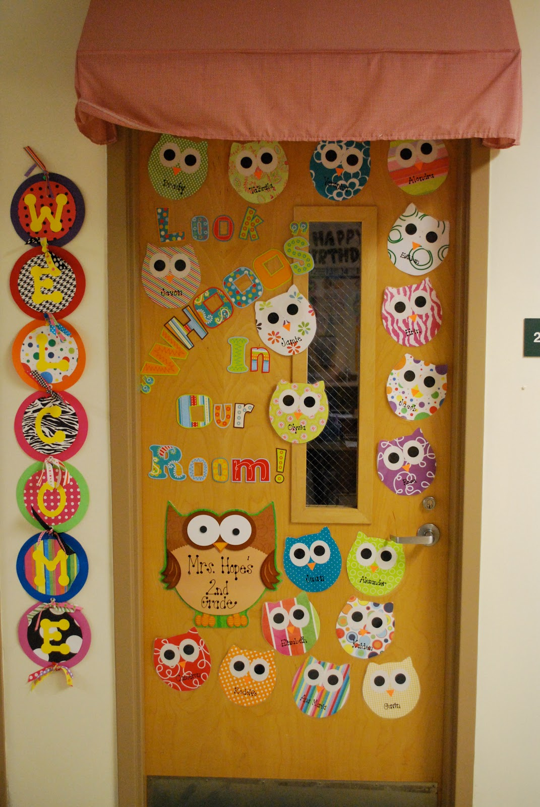 Owl Classroom Door Decorations ~ Mrs lee s kindergarten my sister second grade